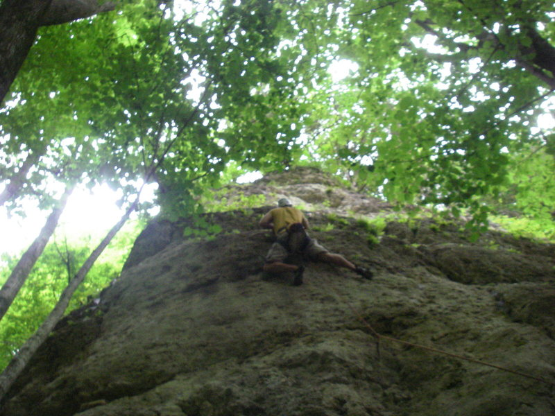 Rock Climbing Photo: Cruxy area on OTC