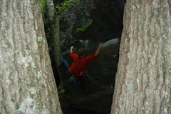 Rock Climbing Photo: Timmy on the opening moves