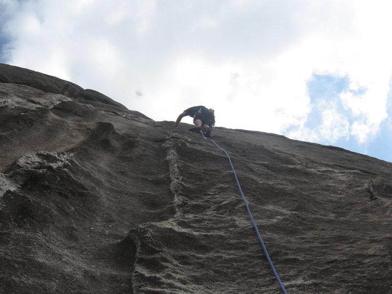 Rock Climbing Photo: Tim leading P3