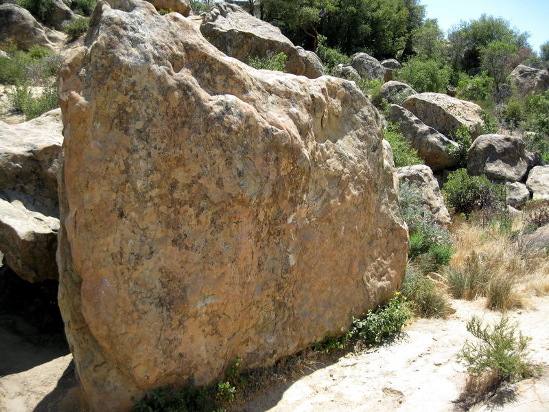 Gun Crazy goes up just left of center on this boulder.