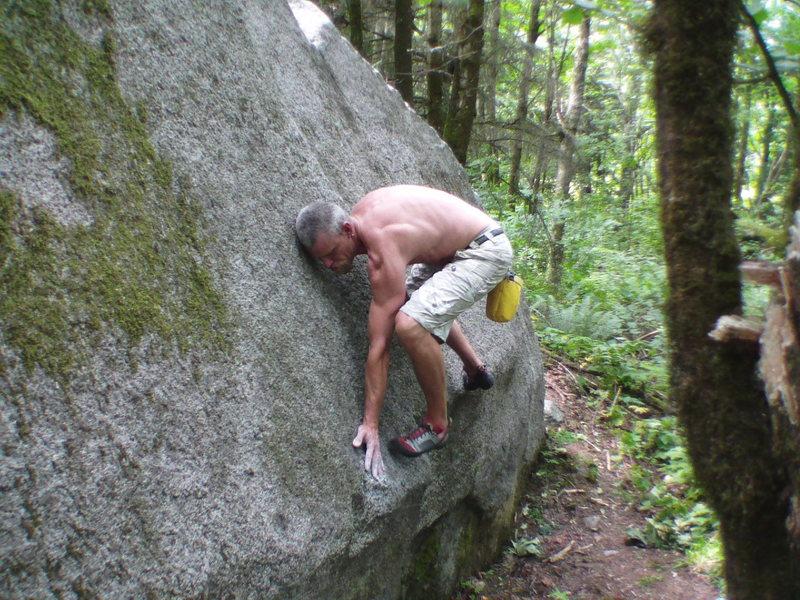 Rock Climbing Photo: Getting onto the slab of Presstoe