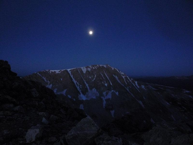 Full moon over Jenkins Mtn.