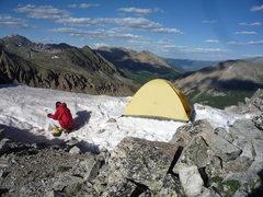 Rock Climbing Photo: Camp at 13080'.