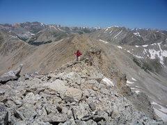 Rock Climbing Photo: Approaching the summit of UN 13140'.