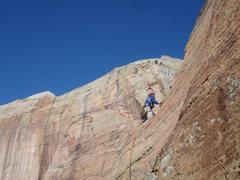 Rock Climbing Photo: Joe low on the route