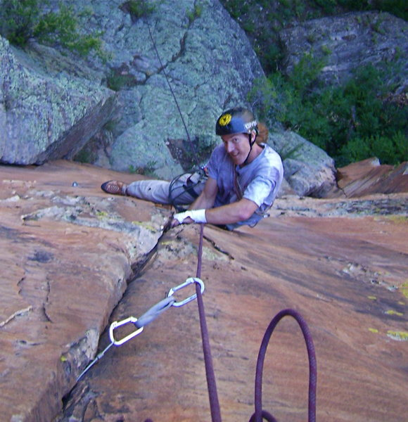 Rock Climbing Photo: Mark- on Pitch One!
