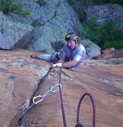 Rock Climbing Photo: Mark- on Pitch One!
