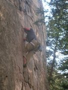 Rock Climbing Photo: Nick Orticelle, trying to rescue his arms and feet...