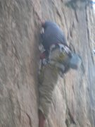 Rock Climbing Photo: His efforts only make the beast hungrier, and it b...