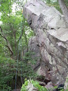 Rock Climbing Photo: Whoa! That IS overhanging! For DL anyway.