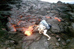 Rock Climbing Photo: Pacaya Volcano - Playing with fire