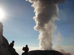 Rock Climbing Photo: Santiaguito volcanic eruption.