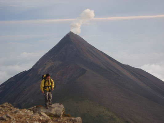 Rock Climbing Photo: Volcan Fuego explotion