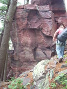 Rock Climbing Photo: First boulder you will see on your right as you wa...