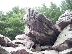 Rock Climbing Photo: The Jewel. Faces down hill, third boulder down. Ma...