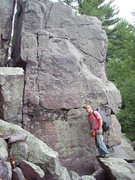 Rock Climbing Photo: This faces Horse Rampart and can be seen from ther...