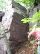 Rock Climbing Photo: This boulder is down the hill and to the right a b...