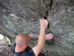 "Rock Climbing Photo: ""True Grit"", Contact Station Boulders, G..."
