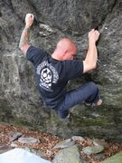 "Rock Climbing Photo:  ""True Grit"", Contact Station Boulders, ..."