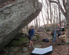 Rock Climbing Photo: Inspecting True Grit Boulder at the Contact Statio...
