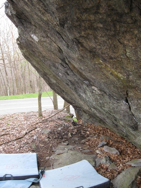 The True Grit Boulder at the contact Station Boulders, Grayson Highlands State Park, Va
