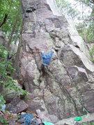 Rock Climbing Photo: The start traverse.