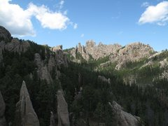 Rock Climbing Photo: View over part of Ten Pins area at Cathedral Spire...