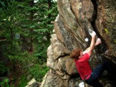 "Rock Climbing Photo: Luke Childers climbing ""Brain Child."""