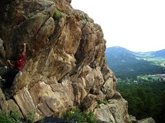 """Rock Climbing Photo: Luke Childers on the F.A. of """"More As Than Is..."""