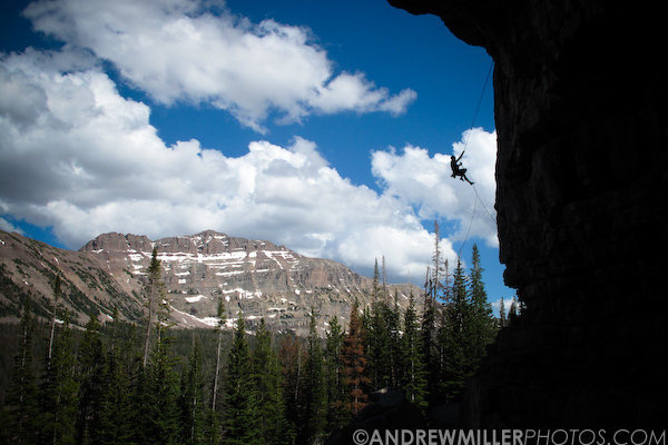 Jamieson Stuart rapping off Ceremonial Execution after a great day in the Uintas.