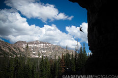 Rock Climbing Photo: Jamieson Stuart rapping off Ceremonial Execution a...
