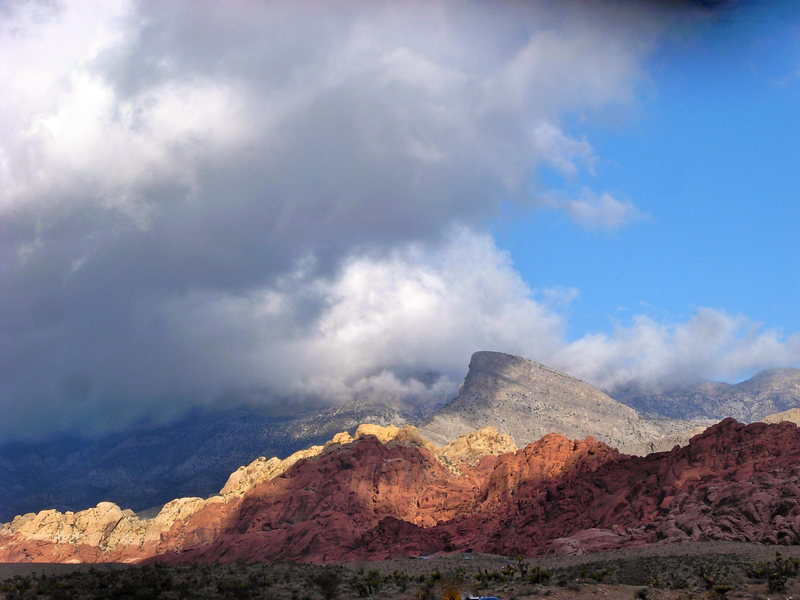 Calico Hills and Turtlehead.