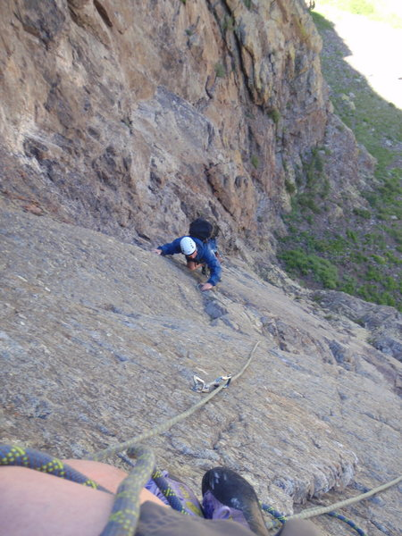 Rock Climbing Photo: View from top of first pitch.