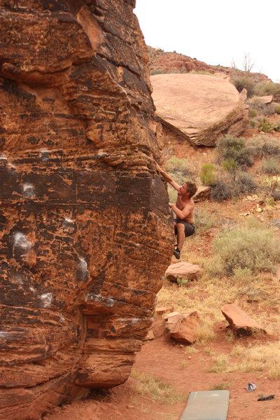 Rock Climbing Photo: Bouldering in Zions Nat'l Park