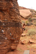 Rock Climbing Photo: Bouldering in Zions Nat'l Park