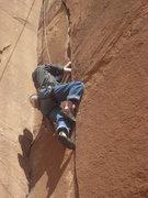 Rock Climbing Photo: Matt following Private Pizza
