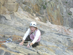 Rock Climbing Photo: Following on Tower of Ra