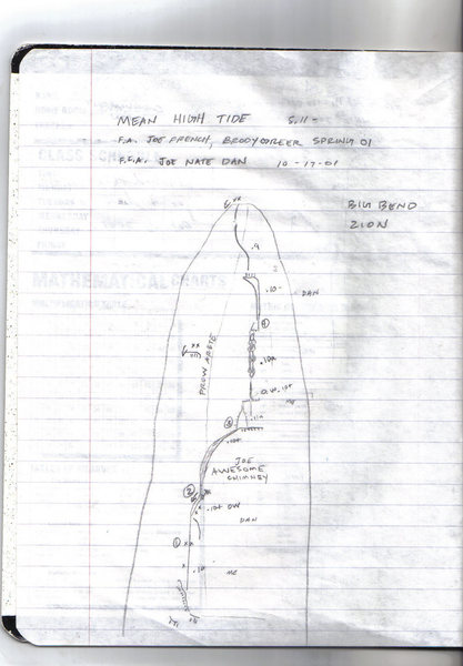 Rock Climbing Photo: I drew this topo days after we freed the route. Go...