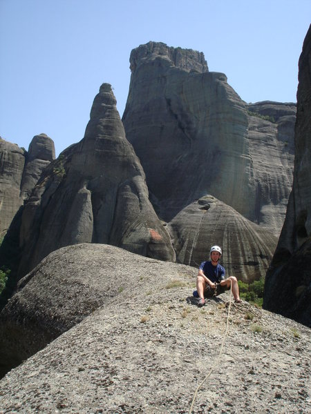 Rock Climbing Photo: Looking northeast, James sits on the summit of Wal...