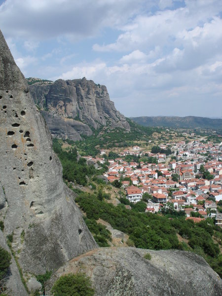 Rock Climbing Photo: The Kalambaka as seen looking east from the summit...