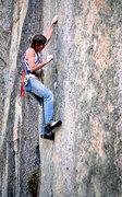 Rock Climbing Photo: Bill Price on Hillside Strangler. 1981 Photo by Bl...