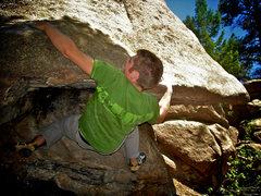 """Rock Climbing Photo: Jason Baker working """"The Piano."""""""