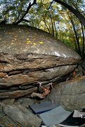 Rock Climbing Photo: Steve Sallemi Big Black, Lost City, Gunks, NY-phot...