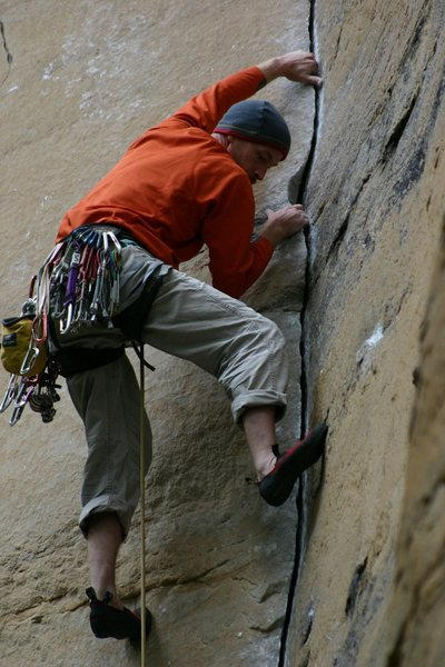 Rock Climbing Photo: Lew Thatcher, Rock Wars, RRG, Kentucky