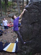 Rock Climbing Photo: Nic showing us how good Fiveten rubber really is.