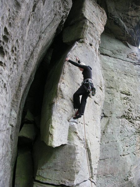 Rock Climbing Photo: Kat, Muir Valley, Kentucky