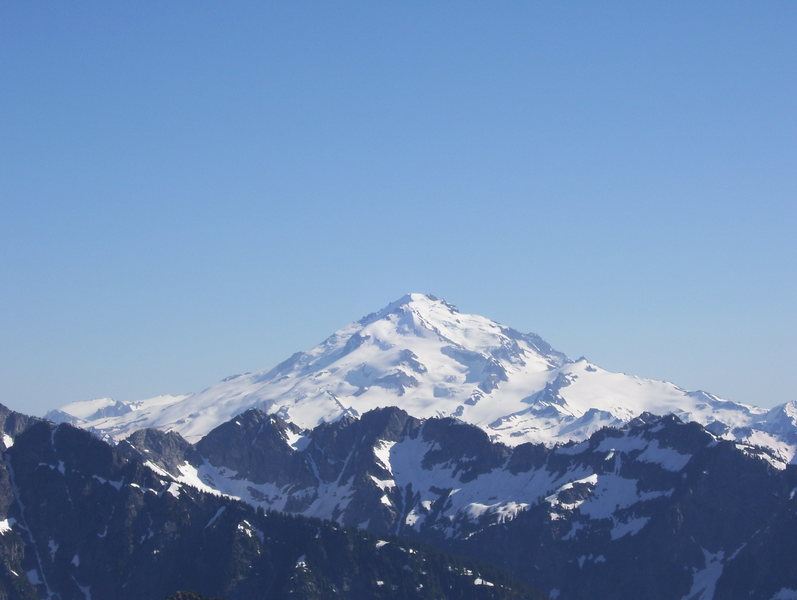 Rock Climbing Photo: Glacier Peak from Dome Peak.  Early July 2007.