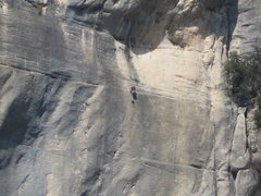 Rock Climbing Photo: Climber on Styx Wall