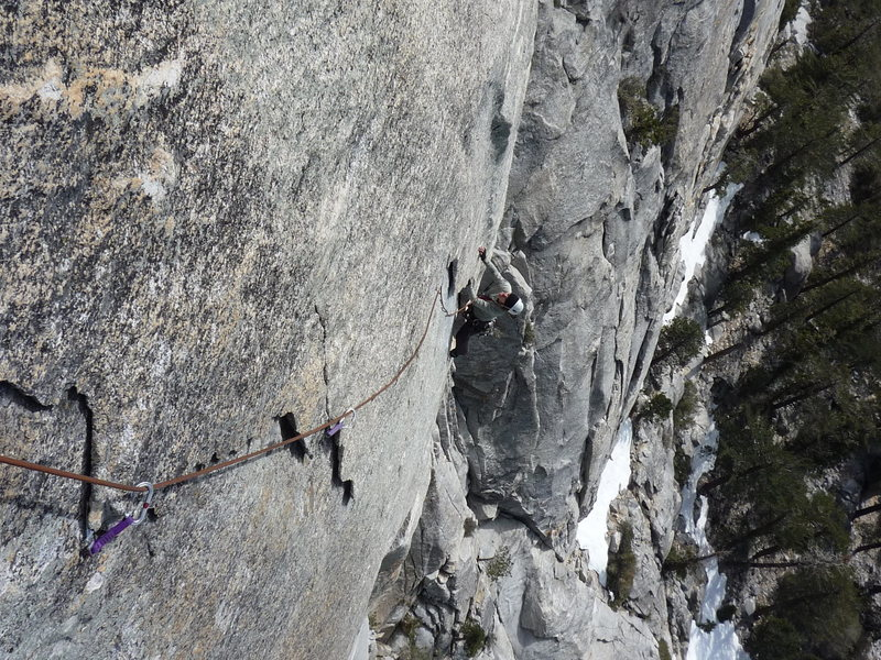Rock Climbing Photo: Pitch 2 of the Vampire, Tahquitz in CA