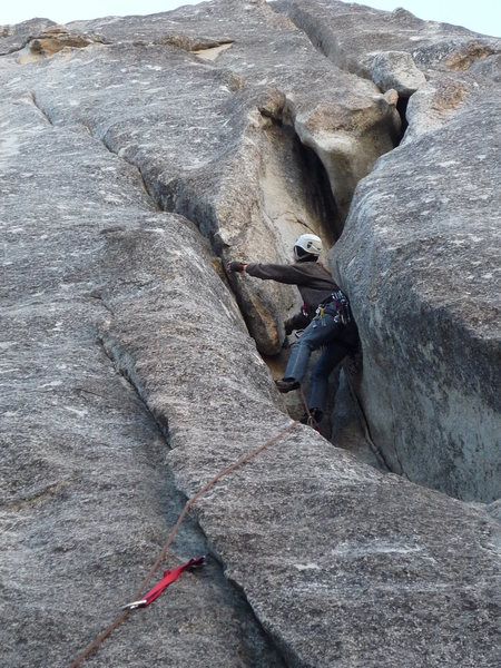 Rock Climbing Photo: Buttress of Cracks at Suicide Rocks, CA